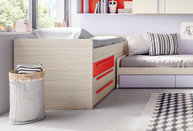 Lobby Corner è ideale ha un pannello fisso che permette l'accostamento di un secondo letto