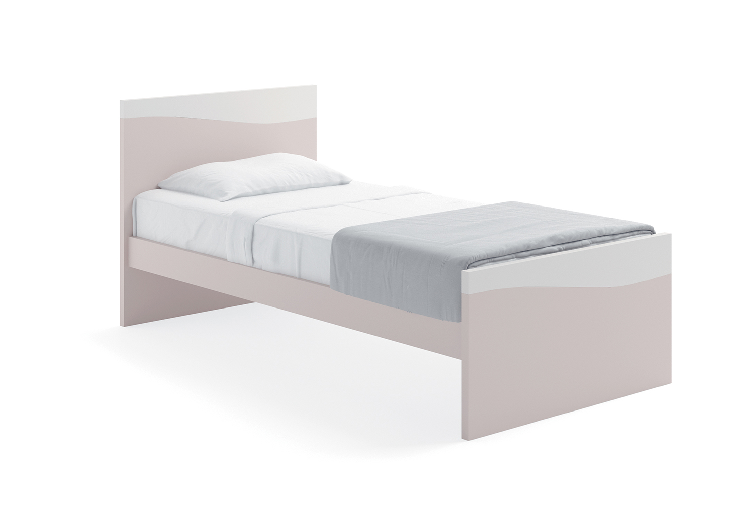 Core simple single bed frame with a customizable streamlined design
