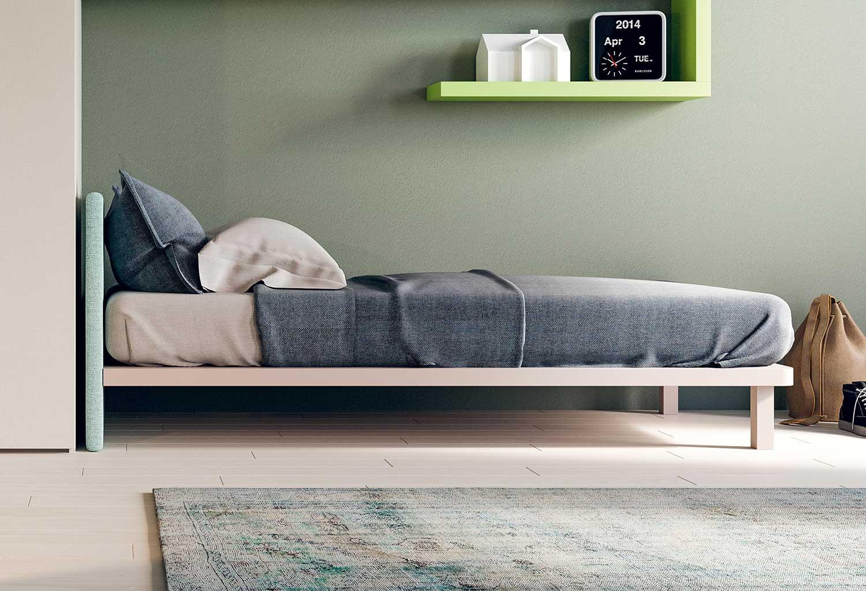 Il letto Karta è sprovvisto di rete e dotato di pianale con fori