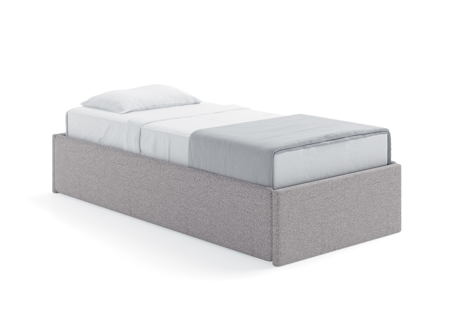 Letto sommier singolo less sommier clever it - Letto sommier contenitore ...