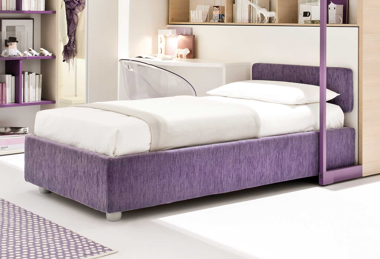 Il letto Less Sommier è disponibile in tessuto in numerosi colori visualizzabili a campionario