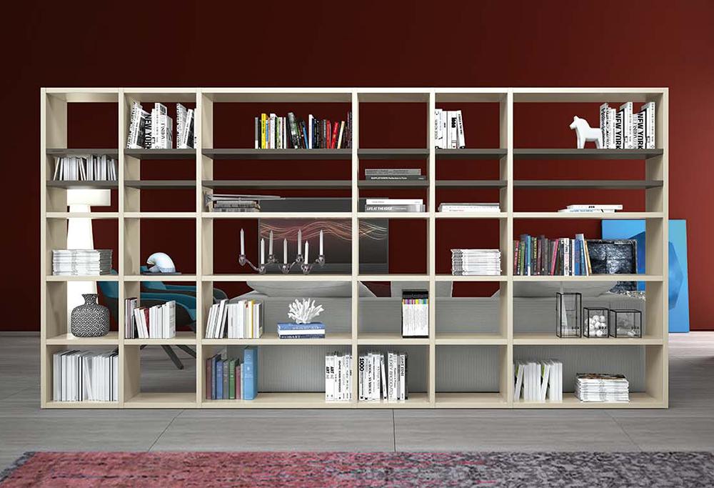 Libreria divisoria bifacciale componibile Start