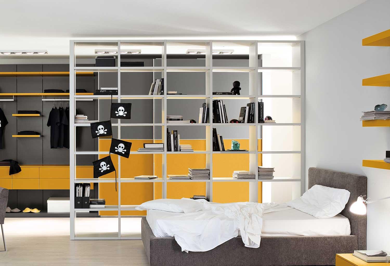 Start-Bifacciale può essere usata in qualsiasi ambiente della casa, per dividere senza separare nettamente