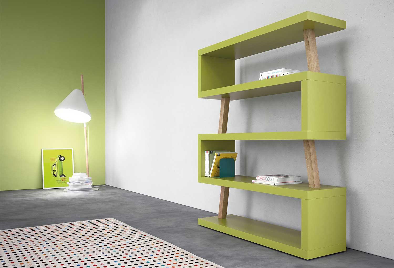 Libreria per la cameretta dei bambini o in un salotto moderno e giovane
