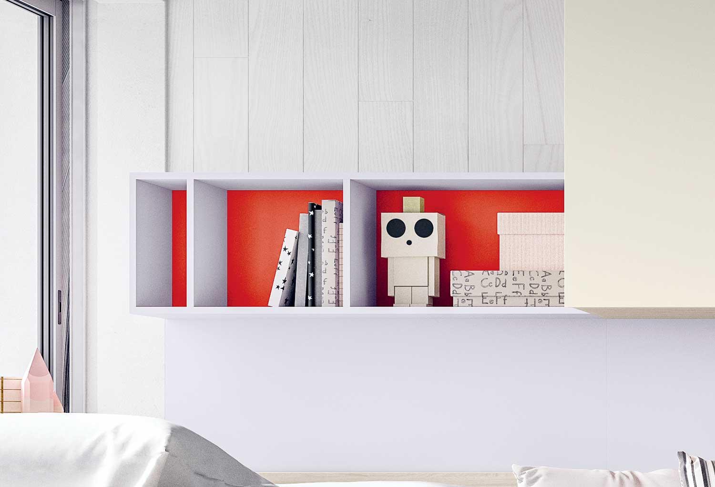 Mensola contenitore colorata per cameretta ideale per libri e cd