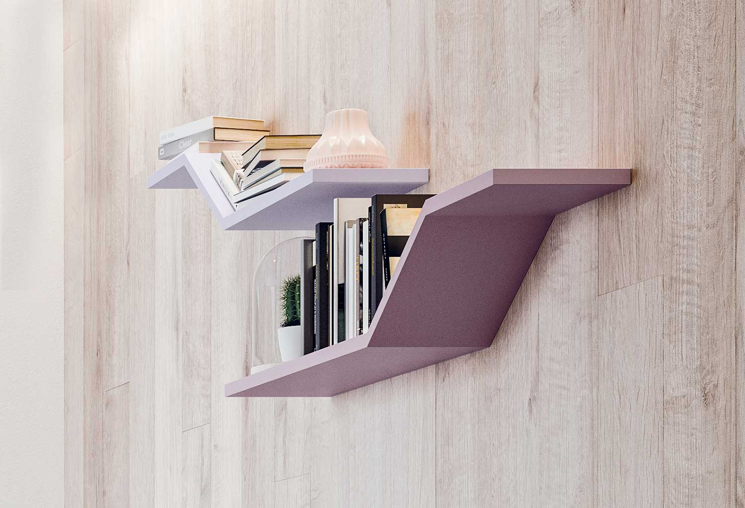 The diagonal surface works as book holder