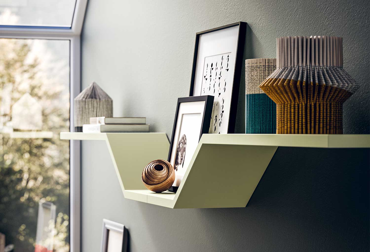 Combination of two shelves