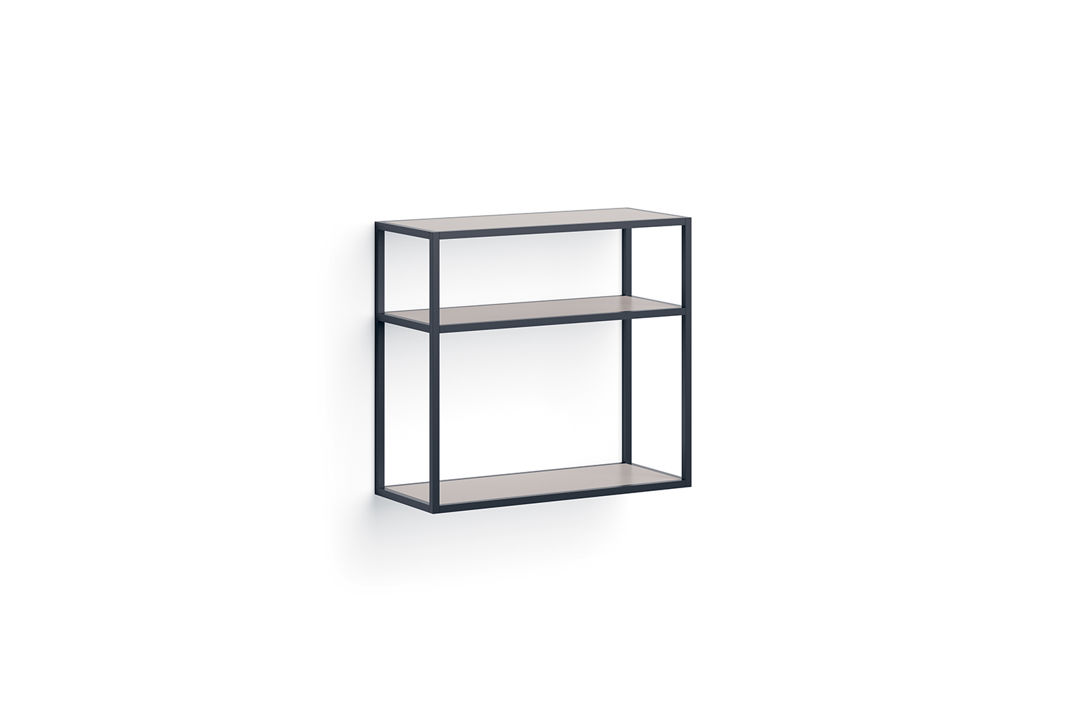 Metal frame shelving with 3 shelves