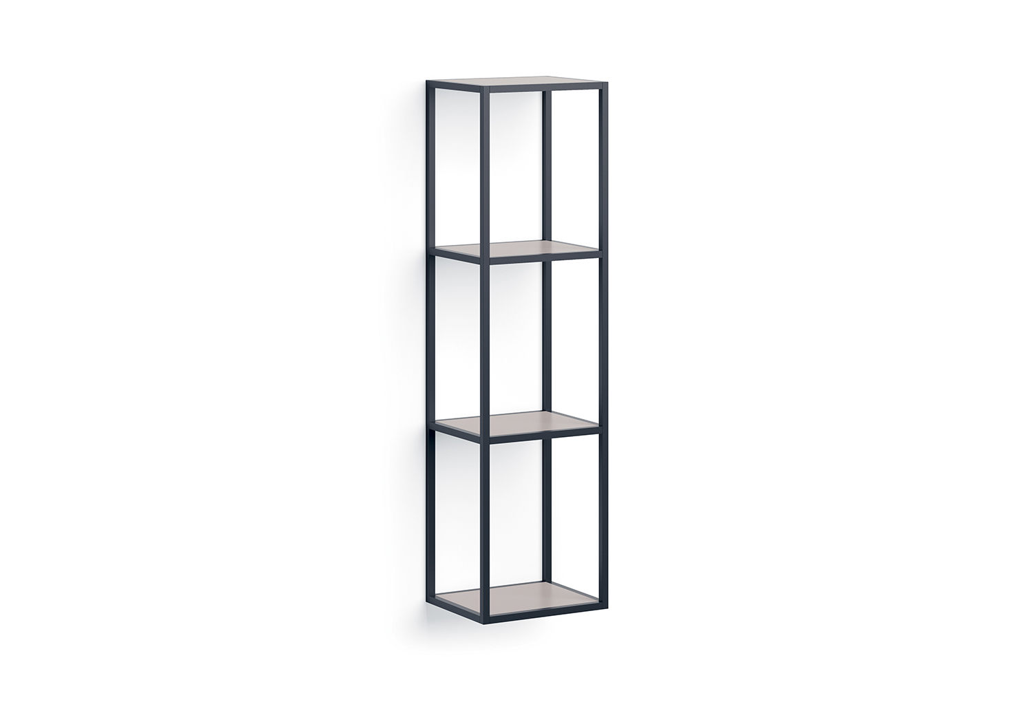 Metal frame shelving with 4 shelves