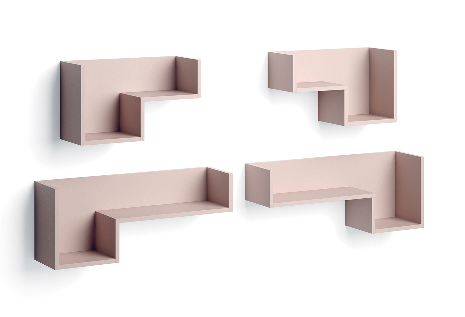 L-shaped shelves Fedra available in 2 sizes
