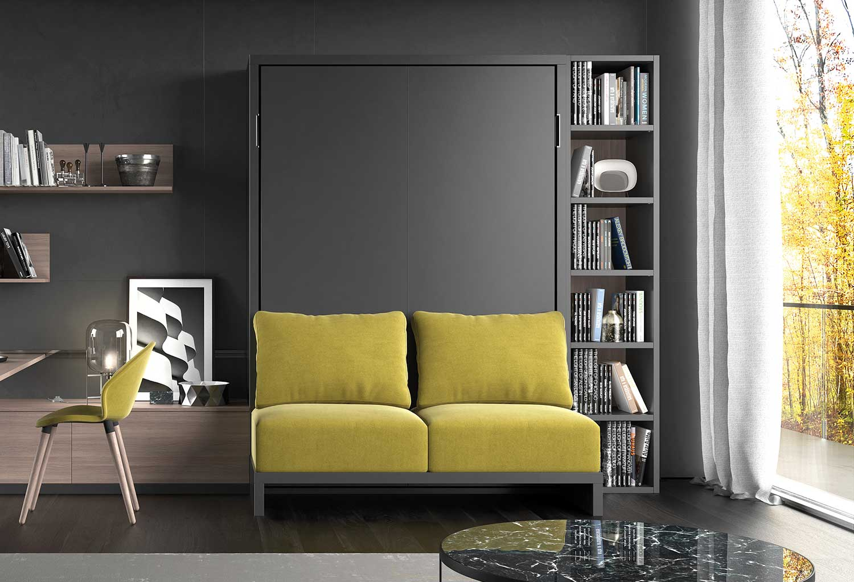 Mobile trasformabile in letto con divano shin sof clever it for Divano con mobile incorporato