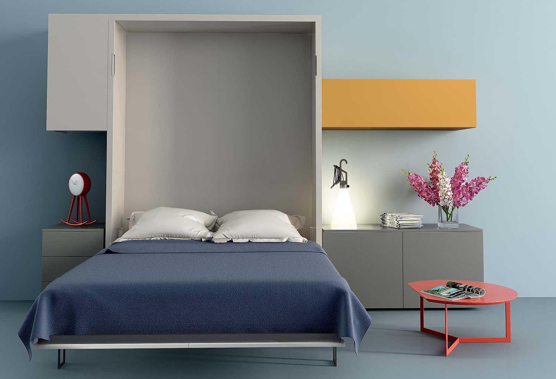 Il divanetto a due posti scompare una volta aperto il letto