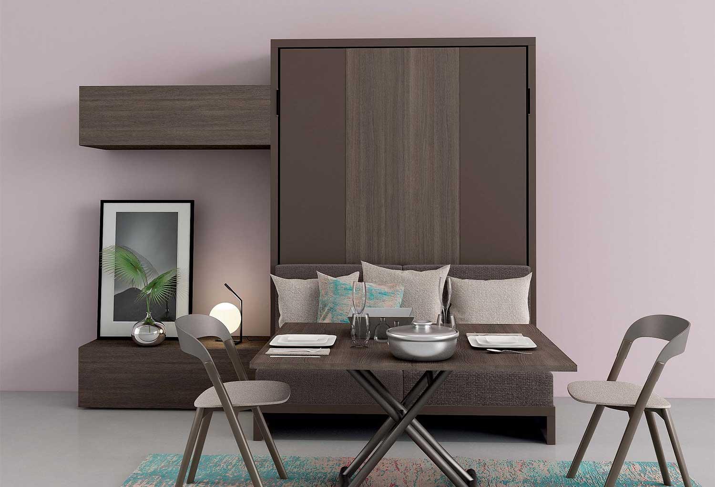 Mobile letto matrimoniale con divanetto integrato ideale anche come zona pranzo
