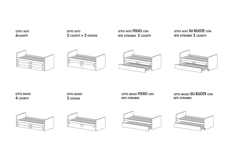 Modelli disponibili letto Lobby Box basso e alto