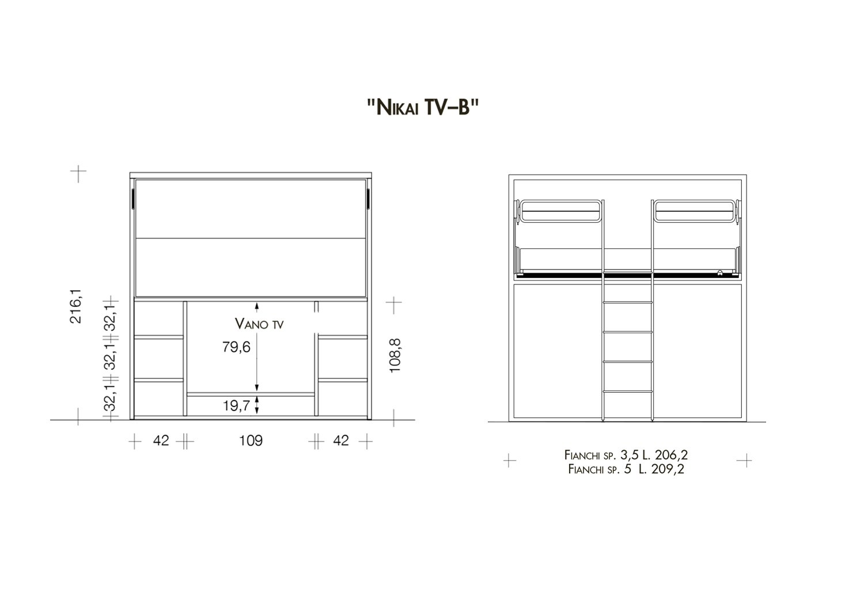 Modelli e dimensioni Nikai-TV B