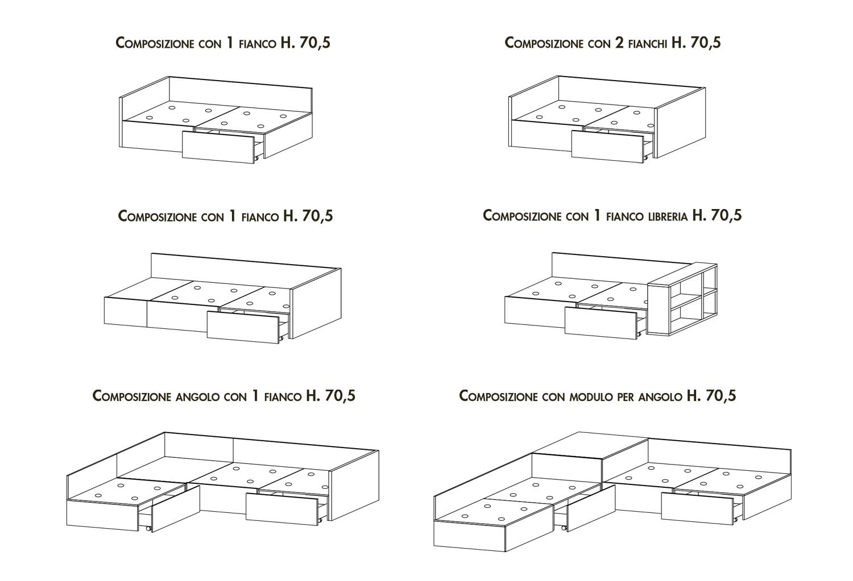 Modelli letto XL di Clever
