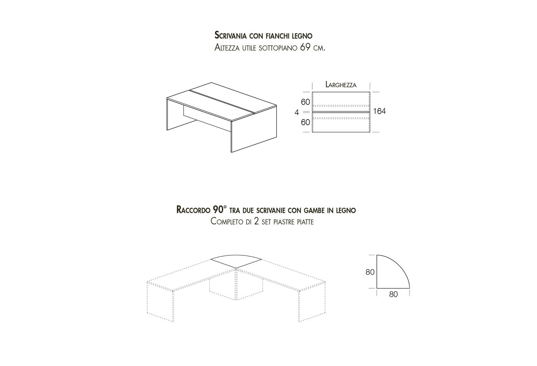Modelli disponibili scrivania doppia e scrivania angolare con raccordo