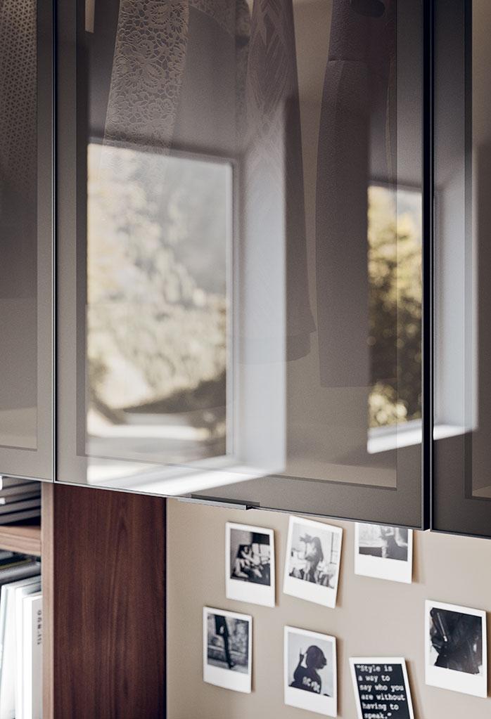 Dettaglio moduli a ponte in vetro