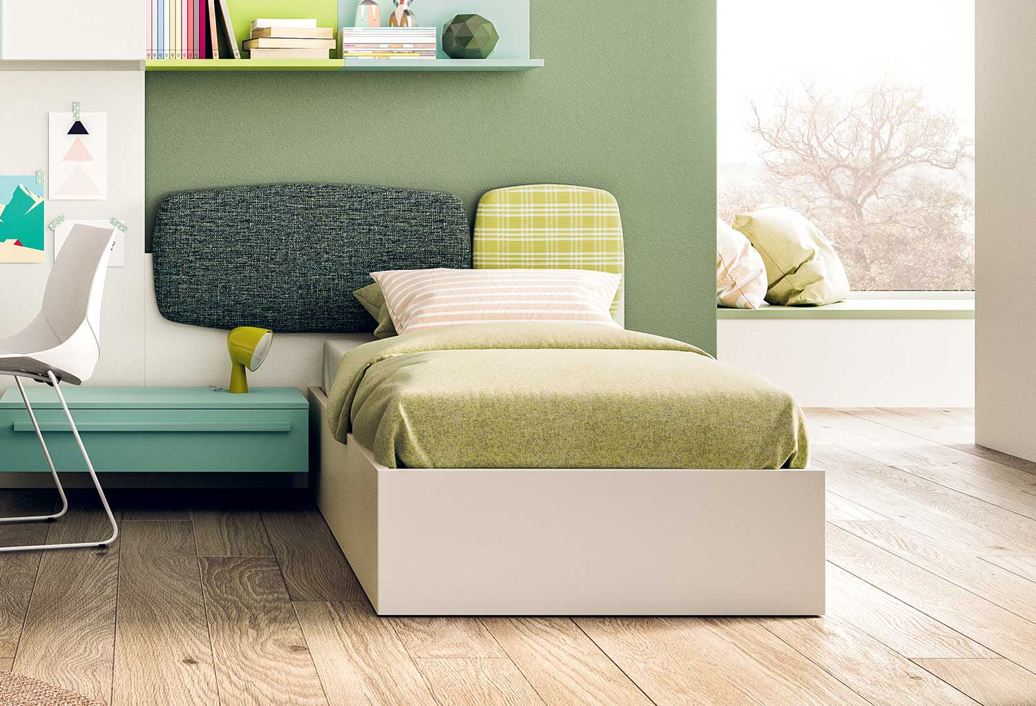 Cloud are multi-purpose wall panels for beds or lounge areas