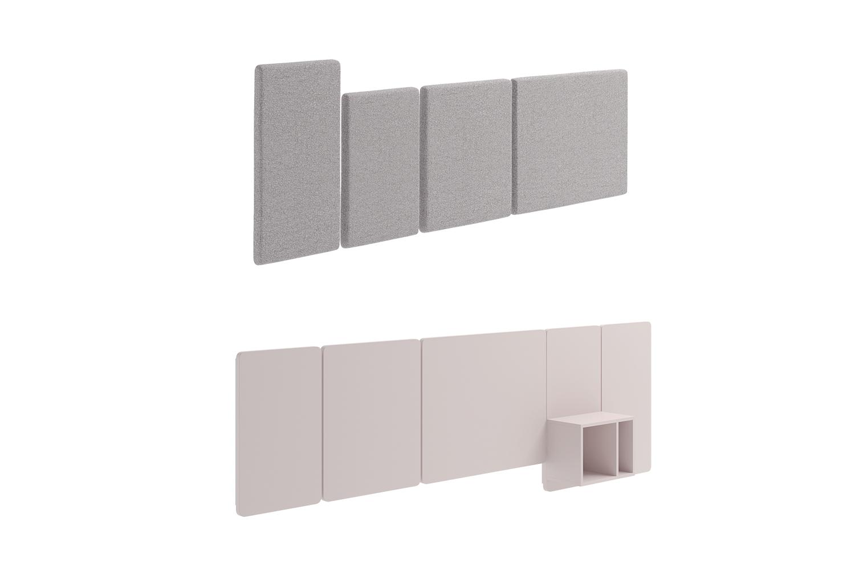 Pannelli modulari per testiera letto wall boiserie clever it - Testiera letto a muro ...