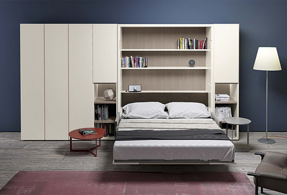 Armadio letto matrimoniale dynamic day 3 clever it - Libreria letto a scomparsa ...