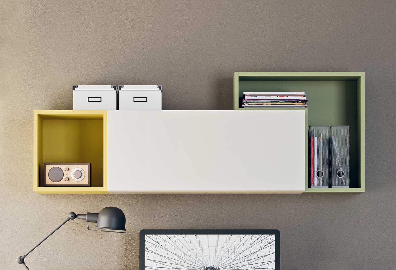 Mobile contenitore pensile per soggiorno e camerette Box