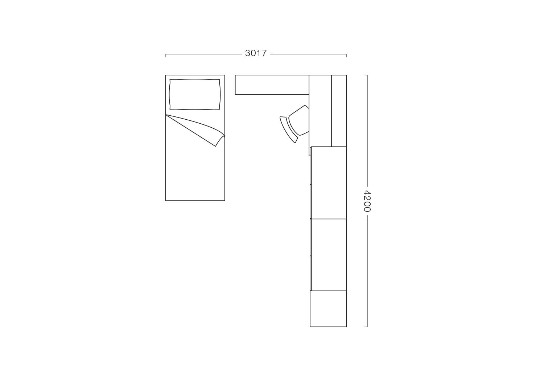 Bedroom set floor plan