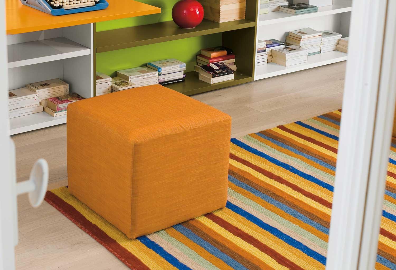 Il pouf Start è ideale in cameretta, nella stanza dei giochi, in soggiorno vicino al divano