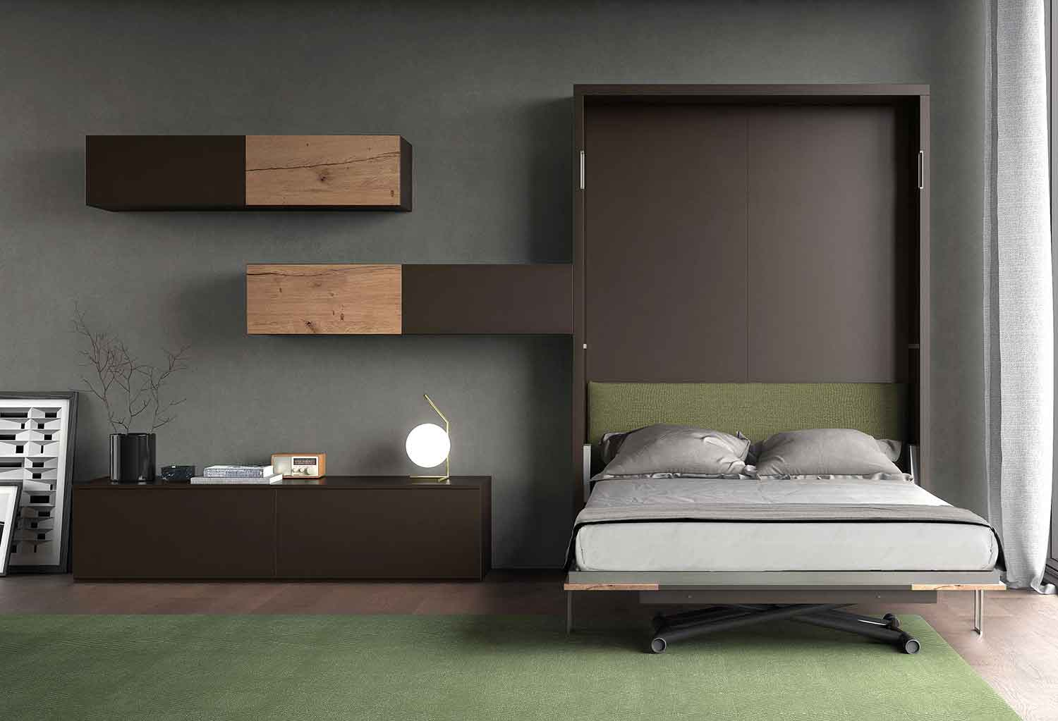 Dynamic Up #13 living room with foldaway double bed - CLEVER.IT