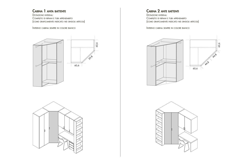Cabina armadio angolare Start Cabina Angolare - CLEVER.IT