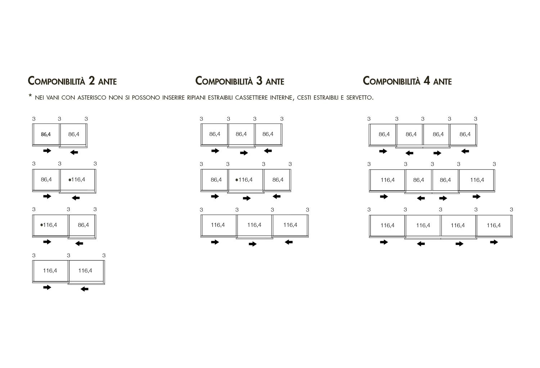 Dimensioni Armadio 3 Ante Scorrevoli.Armadio A 3 Ante Scorrevoli Point Clever