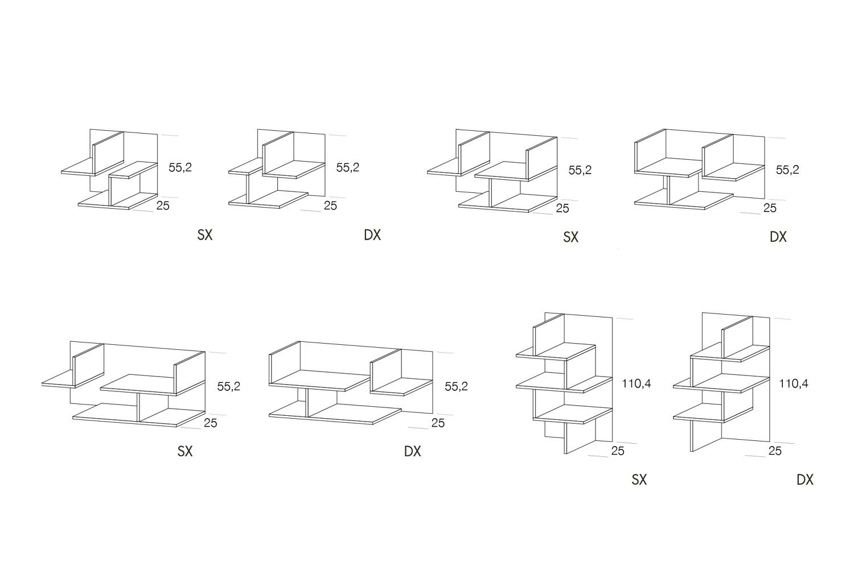 Schema modelli e dimensioni libreria Cross