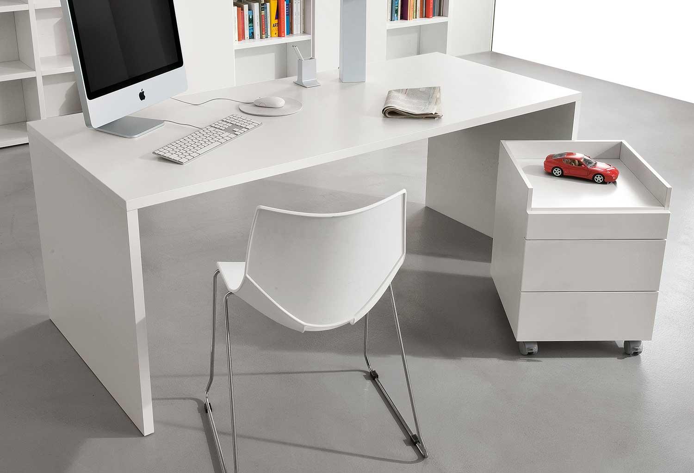 Scrivania bianca per camerette o ufficio