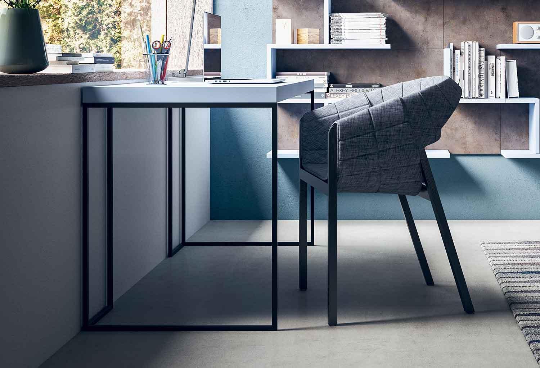 Industrial style metal frame desk Kios