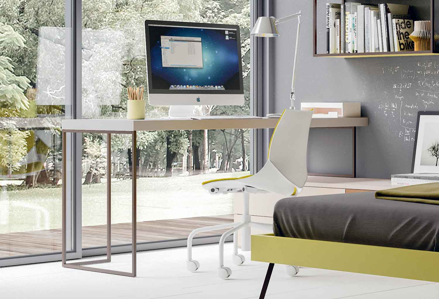 The desk is a cool addition to kids or teens' bedrooms