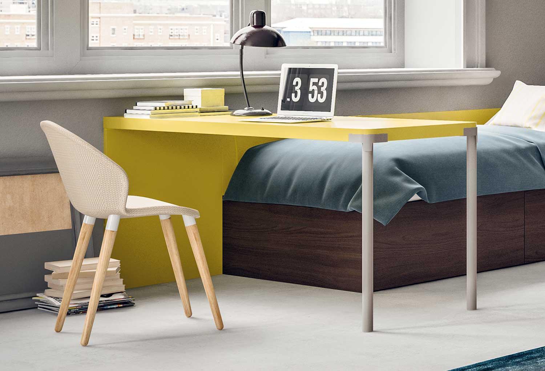 Rectangular wall desk Slim