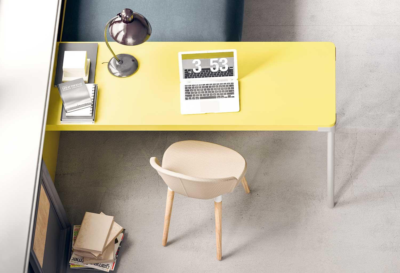 Generous desk top with plenty of work space