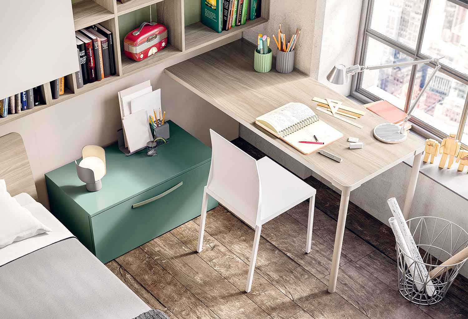 Wall desk Slim can be customized in many colours and sizes