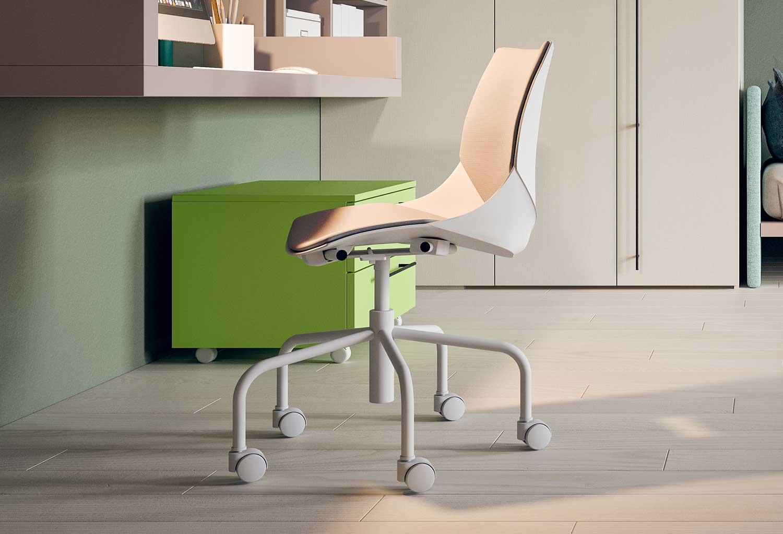 Sedie Da Ufficio Con Rotelle : Sedia per scrivania da ragazzi coral ruote clever