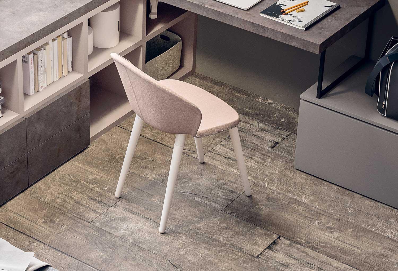 Zen è una sedia moderna ed elegante per cameretta, soggiorno, salotto, home office