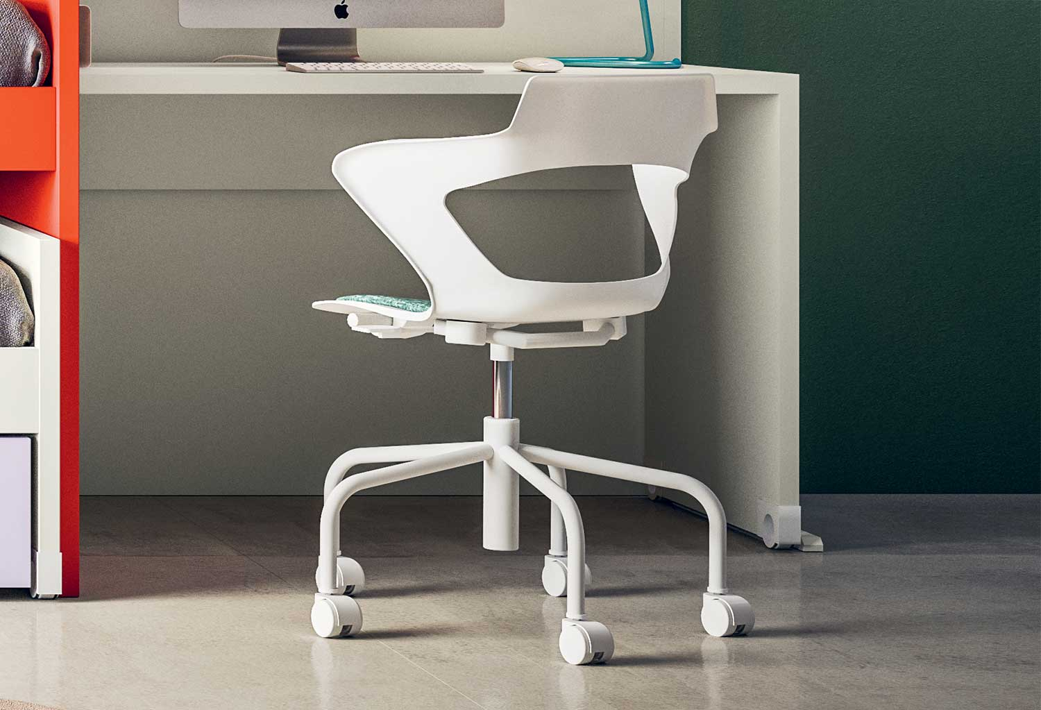 Desk swivel chair Polka has a cool contemporary design