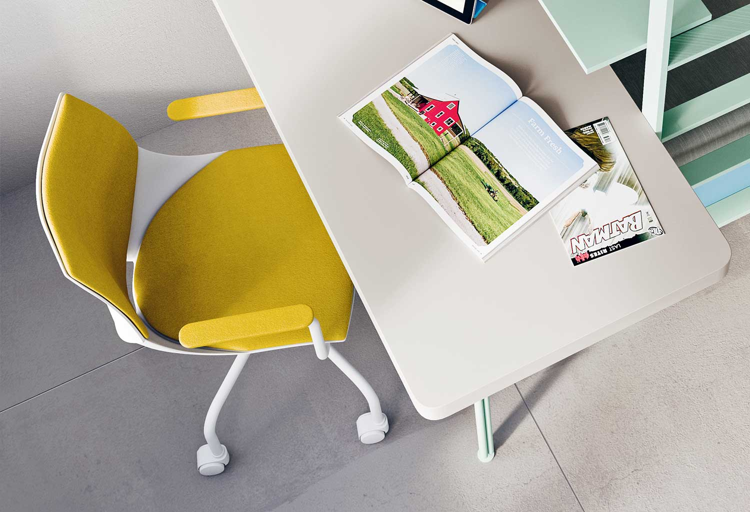Coral Soft desk chair for teens - CLEVER.IT