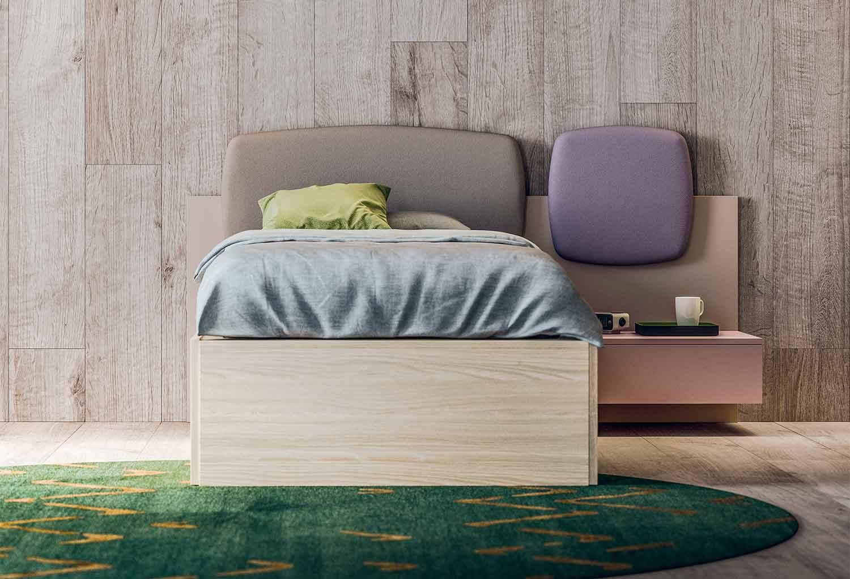 Girlish headboard for single bed