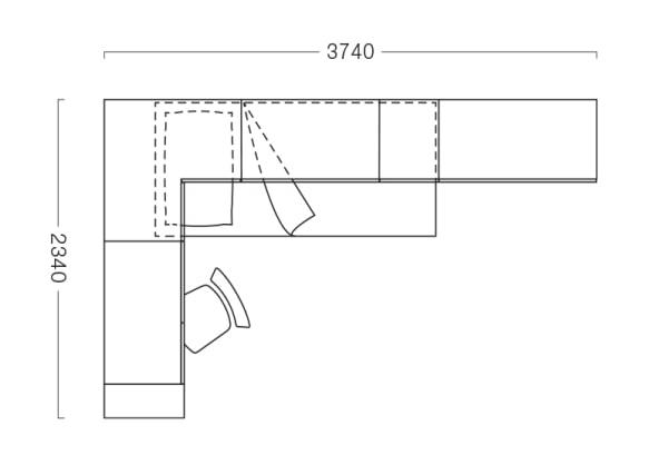 Piantina della cameretta a ponte angolare P23