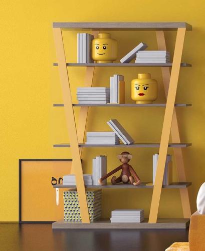 Libreria moderna colorata per cameretta Hon