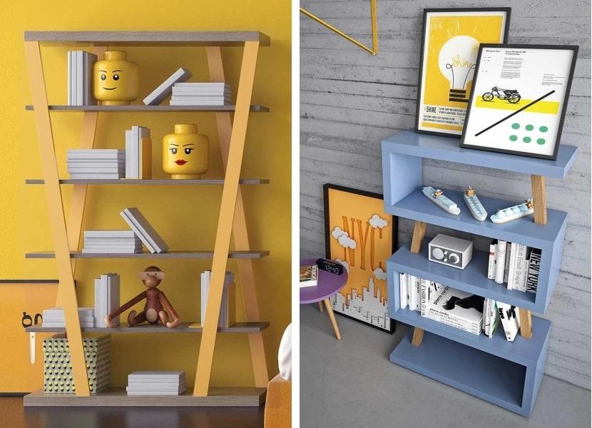 Due modelli di libreria di design per la cameretta