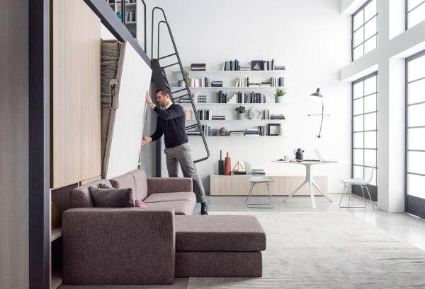 Letto a scomparsa con divano integrato Nobu