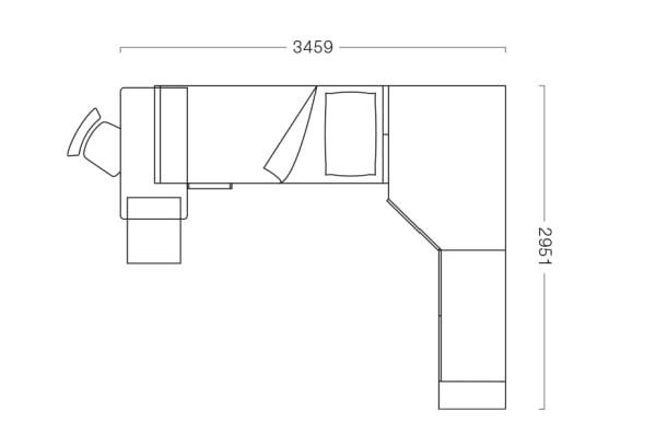 Camera dei ragazzi con cabina angolare S33