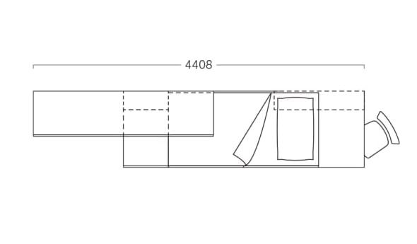 Piantina di cameretta per stanza stretta P19