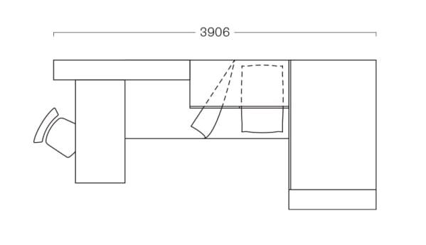 Piantina di cameretta lunga meno di 4 metri P25